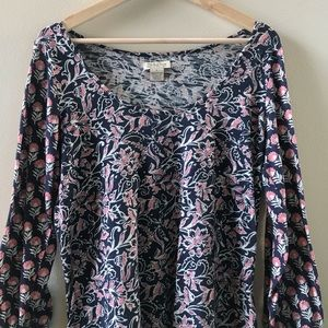 Lucky Brand Tops - Pretty, Soft Navy/Pink Top